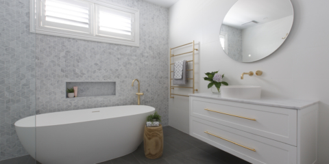Julia & Sasha final reveal: Bathroom, living & bedrooms