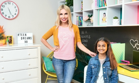 Tween girl bedroom makeover by Cherie Barber for $500