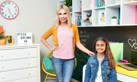 Tween girl bedroom makeover by Cherie Barber for $500