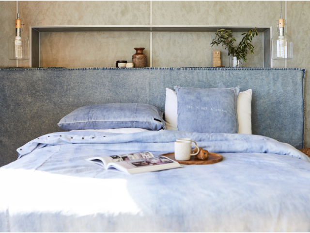 Create Estate denim bedhead