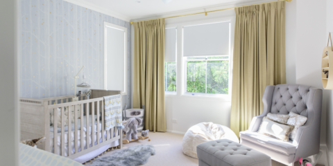 Real nursery: Pale blue & gold combine for baby boy