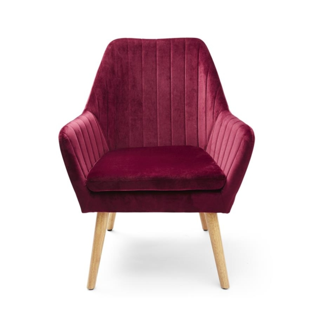 Kmart Pleated Velvet look chair in claret