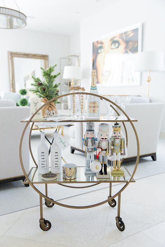 Pinterest bar cart