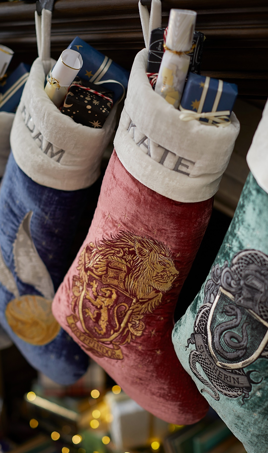 Harry Potter stocking collection, $54 each