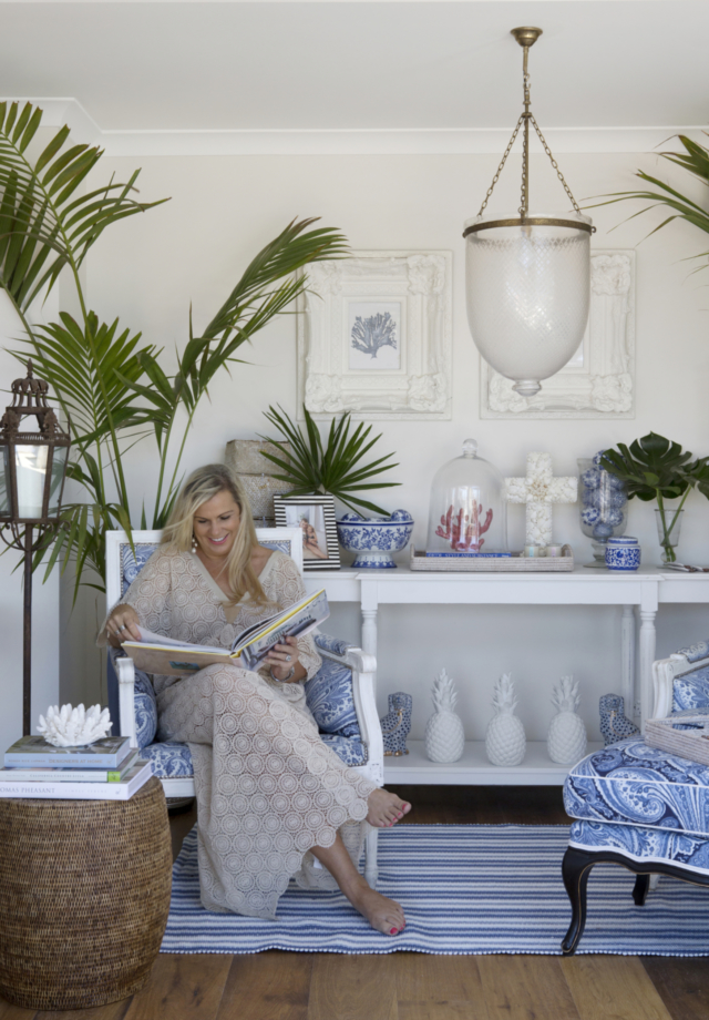 Natalee in her Hamptons-styled home