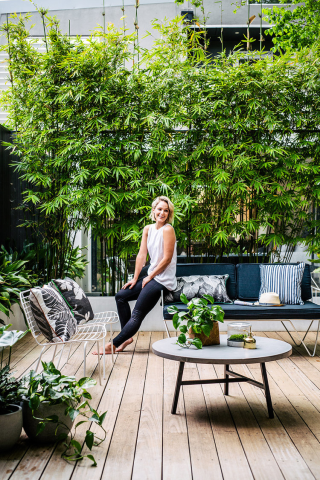 Stylist Eve Gunson in her inner-city courtyard