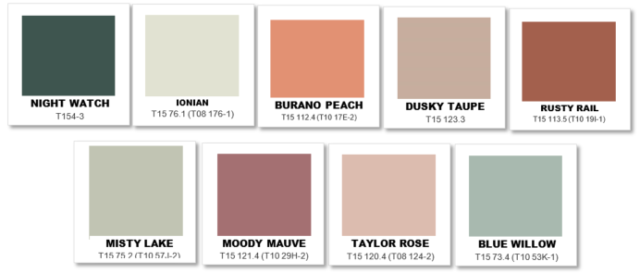 Taubmans colour palette
