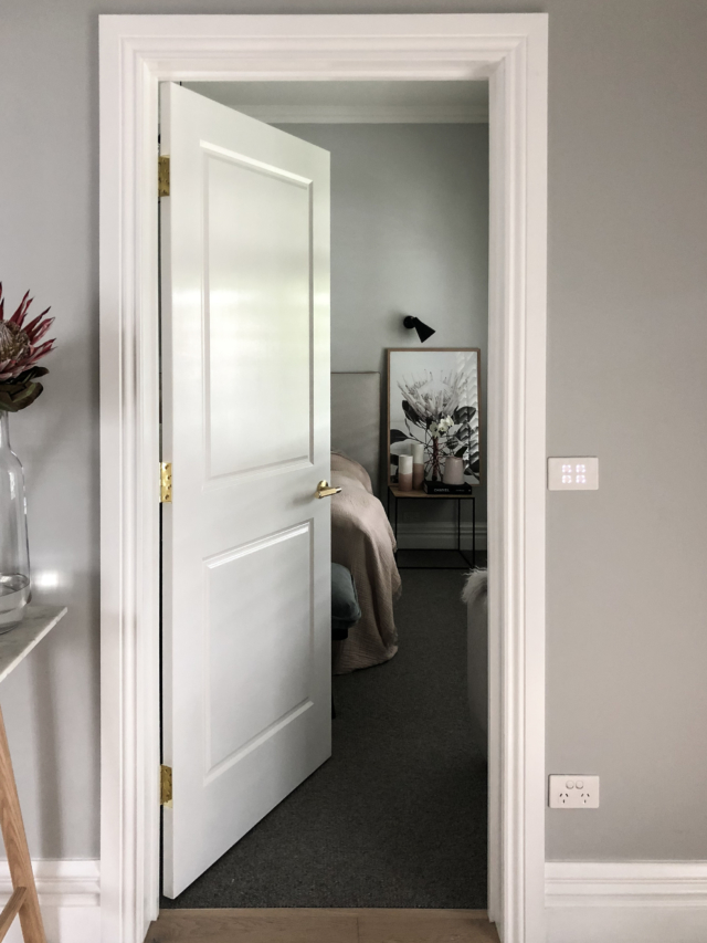 The doors are complemented by skirtings and architraves