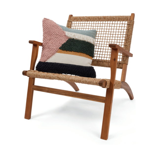 Kmart timber chair and eden cushion
