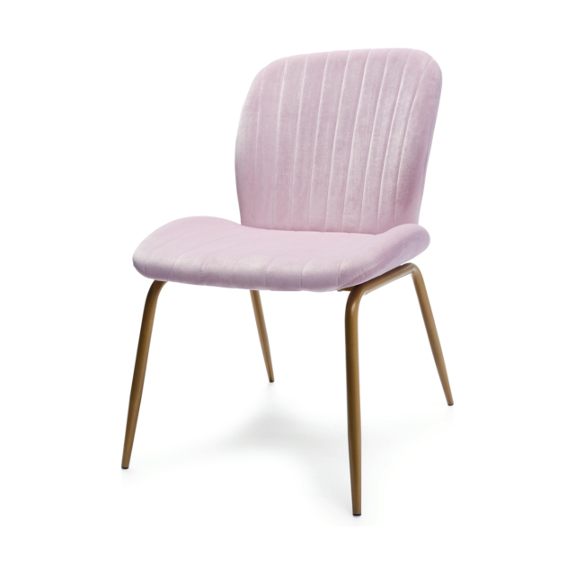 Lilac velvet occasional chair