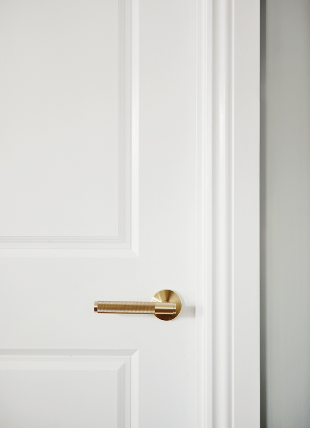 Brass handles complement light fittings and tap ware