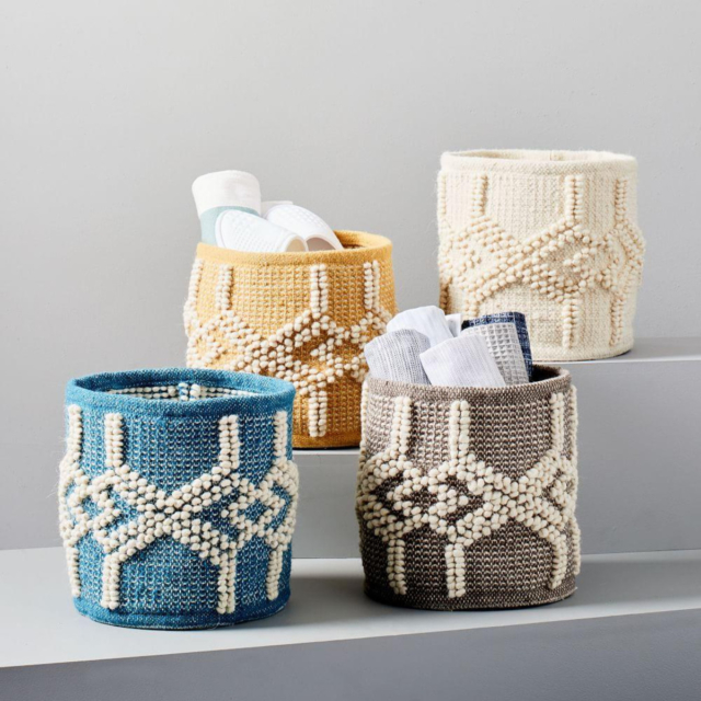 West Elm sweater knit basket