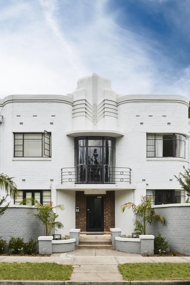 Lucy's gorgeous Art Deco apartment building