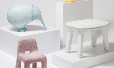 Stylish children's furniture made from recycled toys!