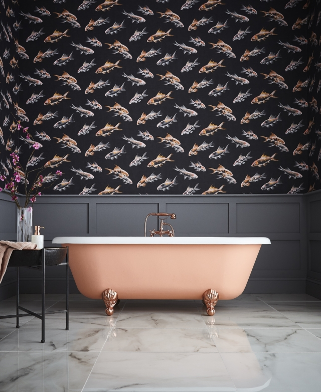 Bathroom wallpaper: yes, it can work with moisture - The ...