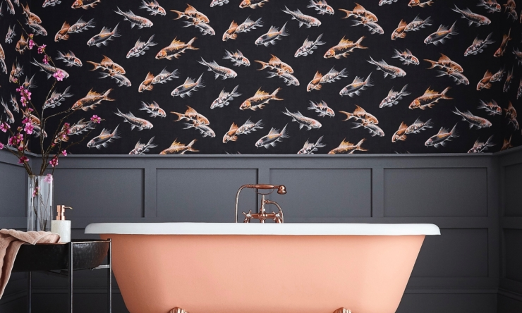 Bathroom wallpaper: yes, it can work with moisture