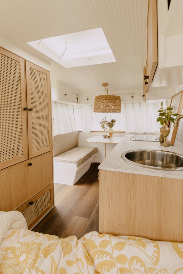 Cedar & Suede caravan
