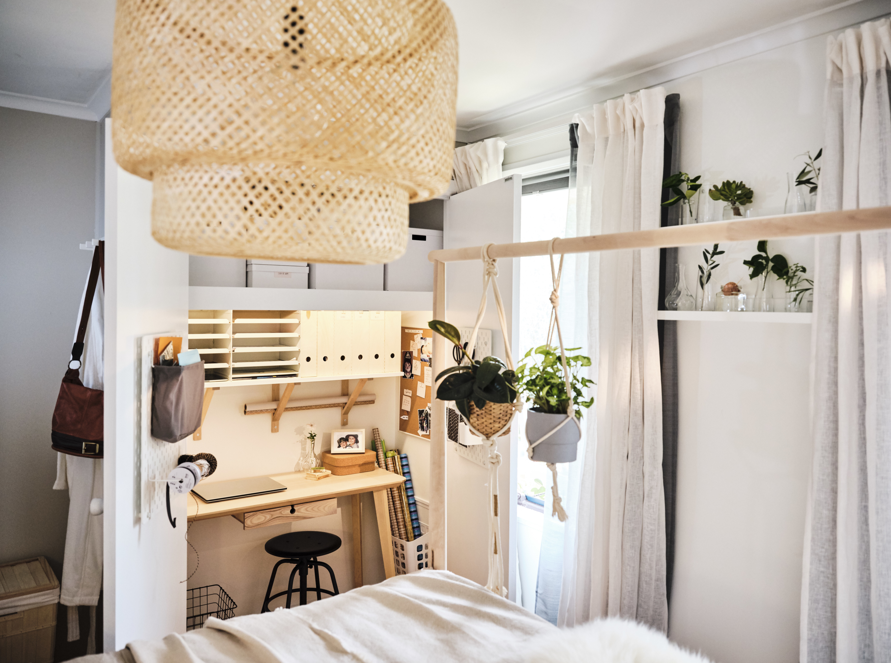 IKEA bedroom makeover turns wardrobe into office nook - The
