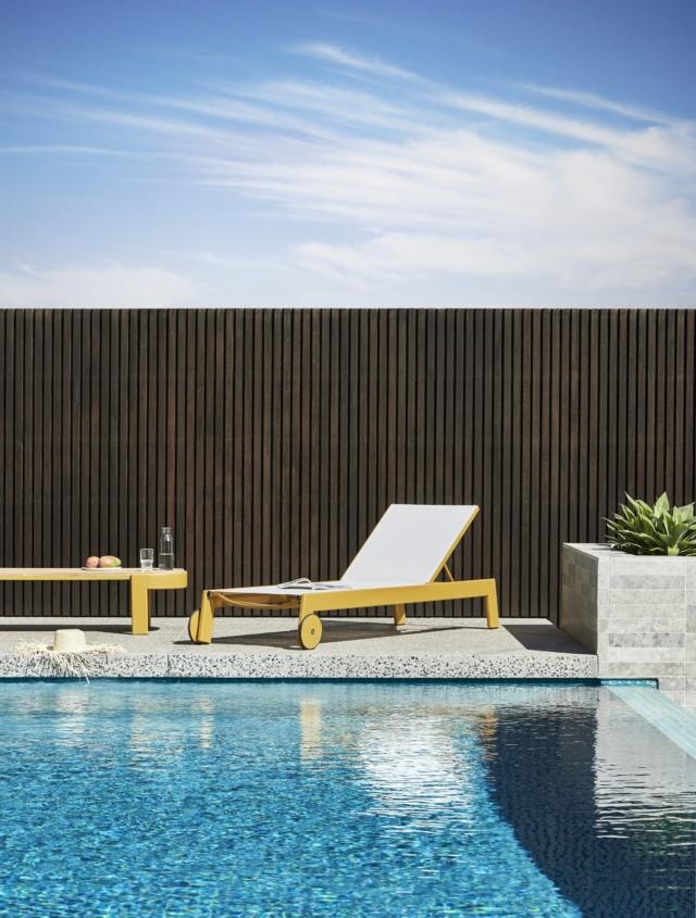 Lagoon sling sun bed and Lagoon oval coffee table