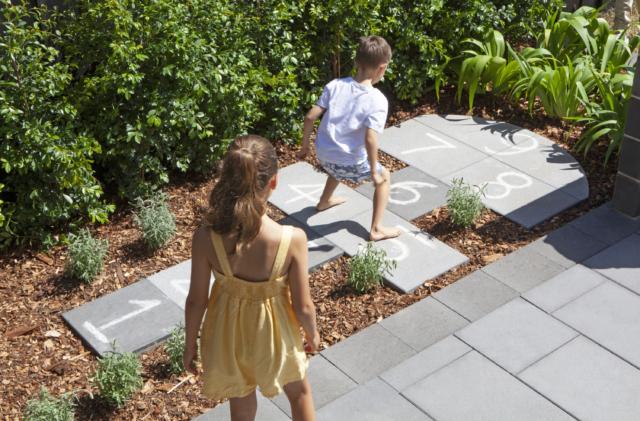 Backyard children