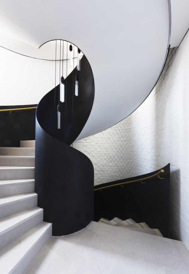 The sculptural staircase