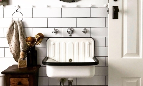 Real reno: A gorgeous vintage-inspired bathroom