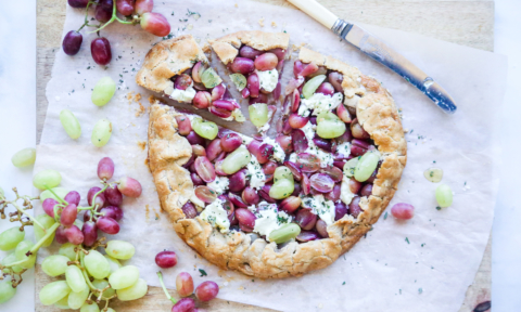 Foodie Friday: Gluten free grape & goat cheese galette