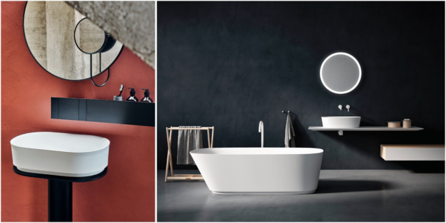 Agape latest: Neri&Hu's Immersion Basin (left) and the Neb collection bathtub (right)