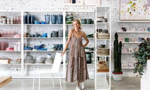 Pip Brett in her store, Jumbled