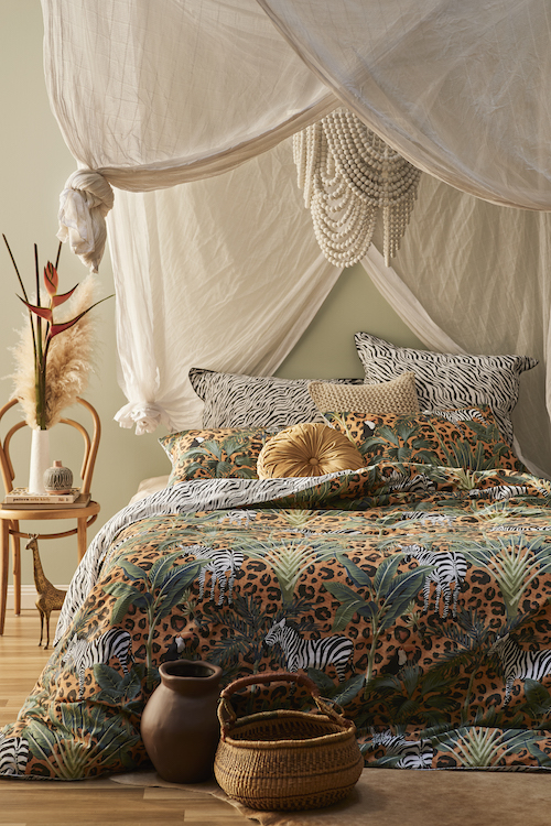Logan & Mason 'Zulu Animal' quilt cover. Styling by Adam Powell and photography by Nathan Hendry