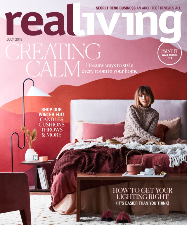 One of Kerrie-Ann's Real Living covers. Photo by Maree Homer