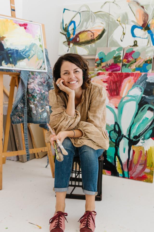 Kate in her studio