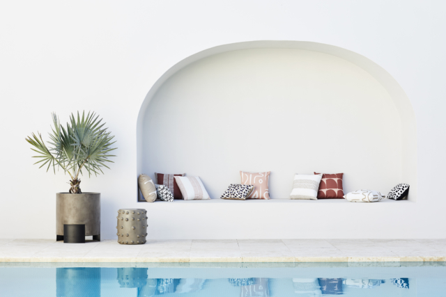 The lovely new Coco Republic outdoor cushion range