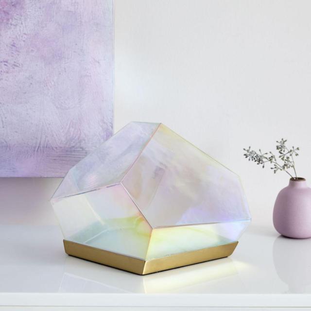 west elm glass gem table lamp