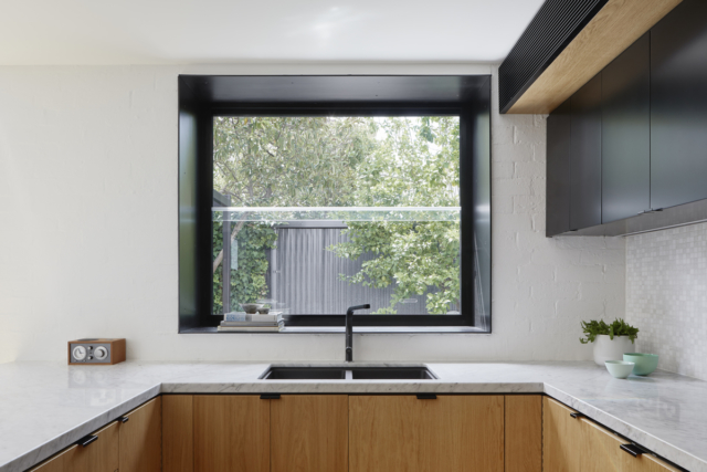 The kitchen's new box window
