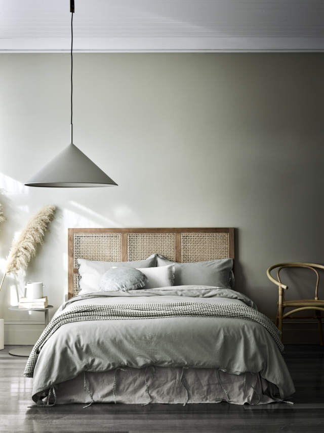 Maison Vintage bed linen in limestone