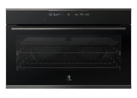 Electrolux 90cm dark multifunction steam oven