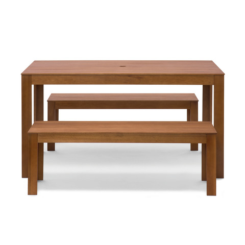 Kmart Timber Bench Set for Budget Friendly Outdoor Furniture