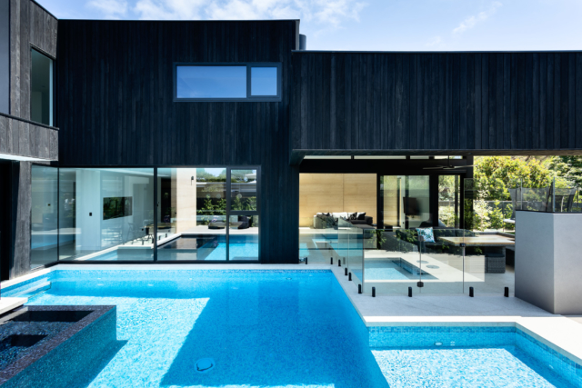 The home's gorgeous resort-style pool