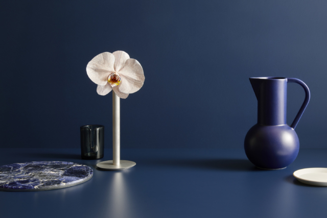 Laminex 'French Navy' pairs beautifully with Dulux 'Pacific Line'