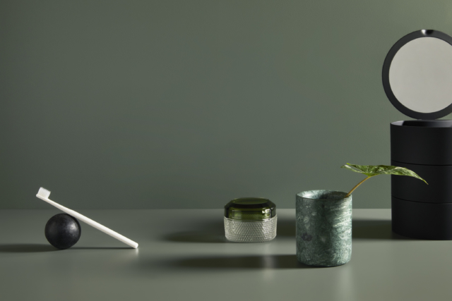 Laminex 'Green Slate' pairs with Dulux 'Spirulina'