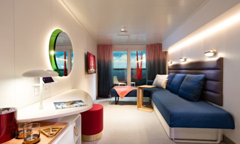 Richard Branson's new cruise ship has fab interiors!