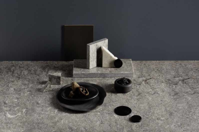 Wattyl 'Turbine Grey' paired with Caesarstone 'Black Pearl'