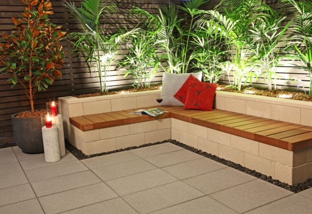Light pavers work best in small spaces