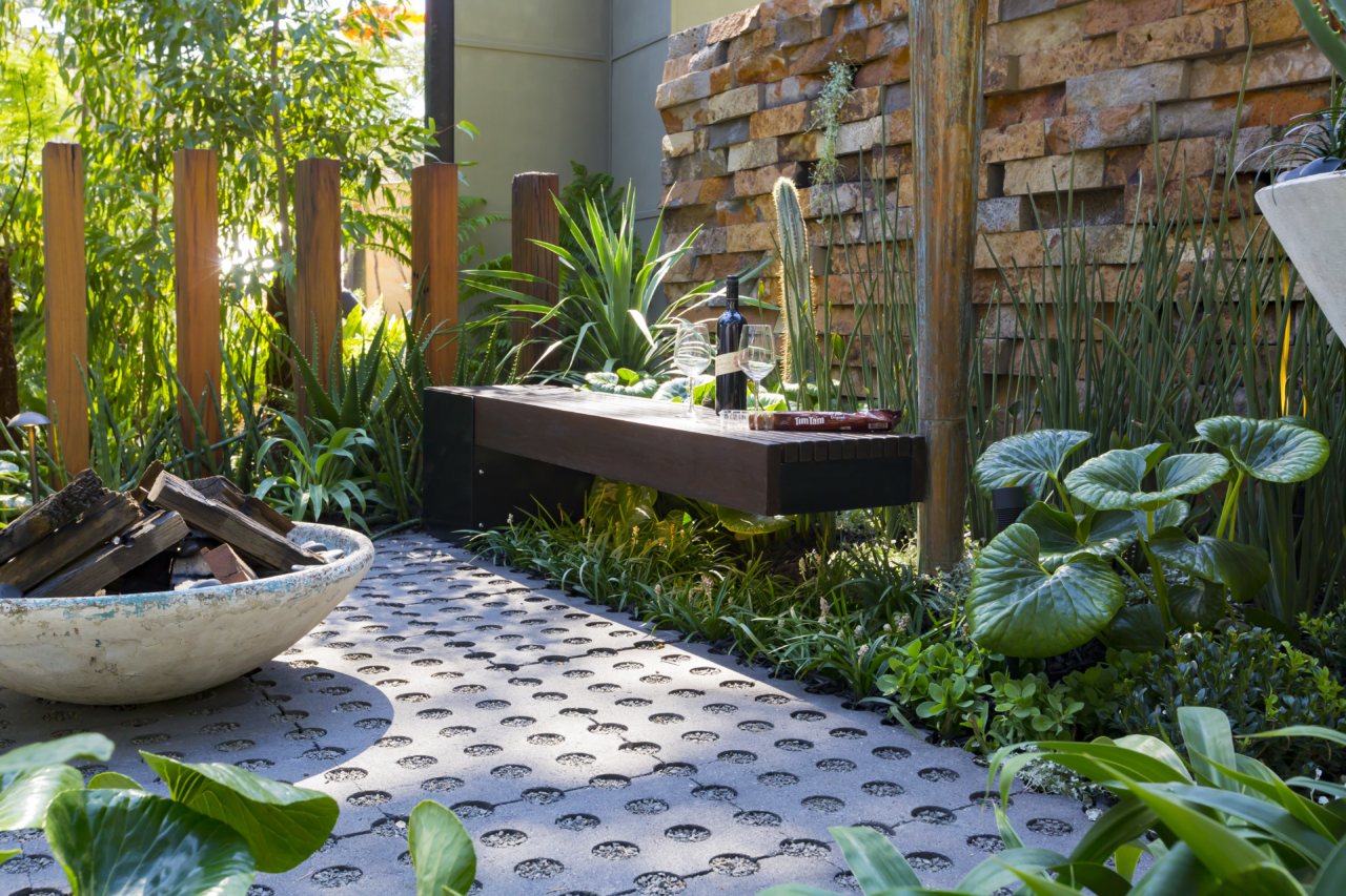 A firepit makes a fabulous small-space garden accessory