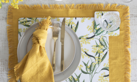Pillow Talk wattle placemat