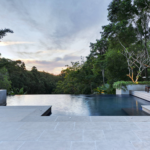 This serene infinity pool, another winner, was created by Living Style Landscapes