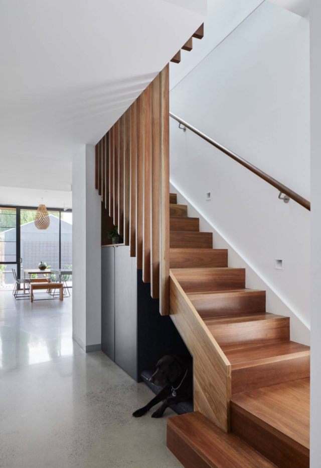 This bespoke timber staircase, by Rebecca Naughtin Architect, is one of this year's winners.