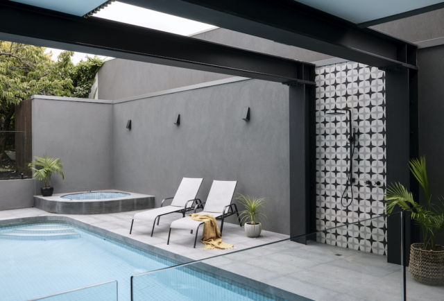 Pool and outdoor shower