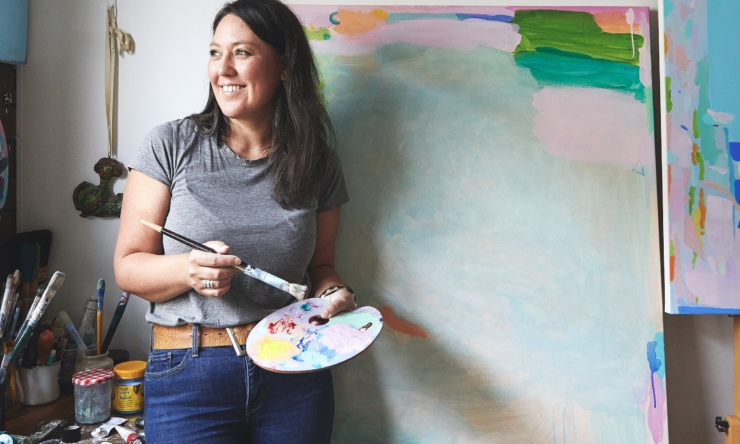Artist Alizon Gray brings calm in challenging times